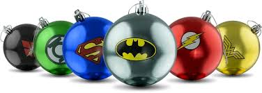 dc comics bauble ornaments set of 6 ikon collectables