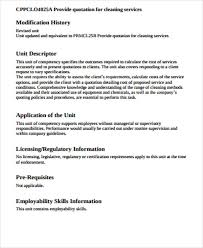 cleaning quotation sample 5 examples in word pdf