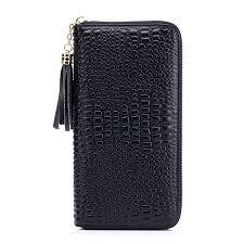 leather women s wallet pattern zency new crocodile pattern tassels genuine cow leather women s