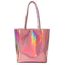 holographic bags mily hologram tote bag laser pu shoulder bag for women