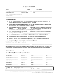 Assignment Form 34 Lease Forms In Pdf