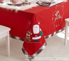 rudolph red nosed reindeer table cloth pottery barn kids