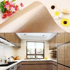 removable wallpaper for kitchen cabinets yazi gloss chagne flower wallpaper kitchen cupboard fridge door