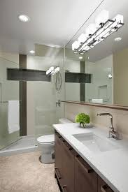 Bathroom Track Lighting Track Lighting Ideas For Bathroom Mirror With Metals Above