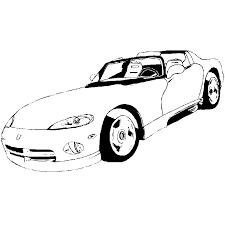 coloriage voiture de sport a imprimer gratuit