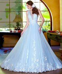 Wedding Dresses Light Blue Light Blue Wedding Gowns For Trendy Bride U2013 Weddceremony Com