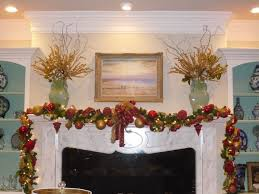living room rustic log home with christmas decoration big antler