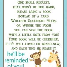 baby shower book instead of card poem quot in lieu of cards book quot is this tacky november
