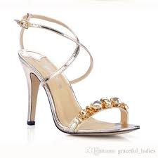 wedding shoes daily gold silver wedding shoes ankle sandals one summer
