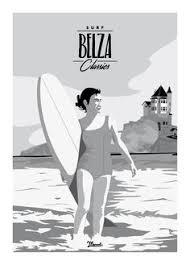 bureau de change biarritz vintage travel poster pau porte des pyrenees