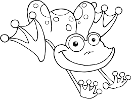 cute frog coloring page free download