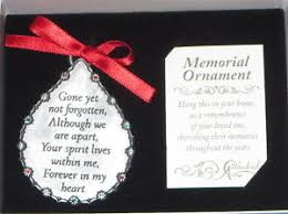 memorial ornament yet not forgotten forever in my