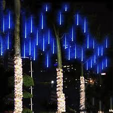 blue led christmas string lights waterproof 50cm 8 tube holiday meteor shower rain led string lights