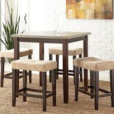 Dining Room Sets With Fabric Chairs by Steve Silver Furniture Aberdeen 5 Piece Counter Height Dining Set