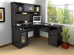 Big Office Desk Home Office Gorgeous Black Colored L Shaped Home Office Desks