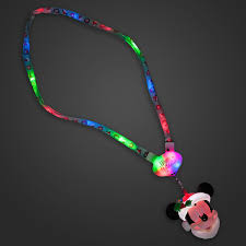 cheap christmas light up necklace your wdw store disney holiday lanyard christmas light up santa