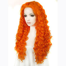 inch fashion orange curly front wig
