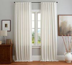 Pottery Barn Linen Curtains Natural Ikat Curtains For Reading Room Living Room In A Roman