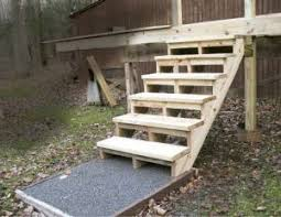 building and installing deck stairs professional deck builder