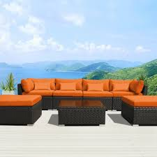 Dark Brown Wicker Patio Furniture by Amazon Com Modenzi 7c U Outdoor Sectional Patio Furniture