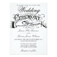 wedding ceremony cards custom wedding ceremony invitations