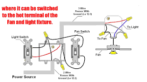 how to wire a ceiling fan with light different switches fancy