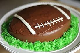 football cake how to make a football shaped cake leaftv