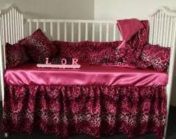 Cheetah Print Crib Bedding Set Baby Crib Bedding Etsy