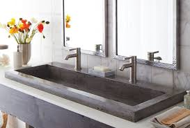 Cement Bathroom Sink - stylish concrete sinks designed to energize the kitchen and bath