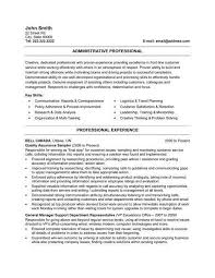 System Administrator Resume Template Administrative Resume Samples Office Administrator Resume