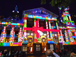 melbourne town lights projection 2012