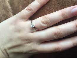 1 4 carat engagement ring solitaire engagement ring 1 4 carat 14k white gold