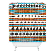 Brown And Teal Shower Curtain by Iveta Abolina Brown Teal Navajo Shower Curtain Deny Designs