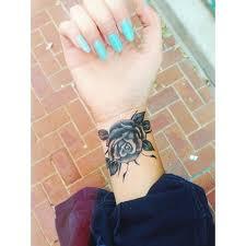 cute black and gray rose wrist tattoo tattooimages biz