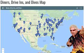 diner drive ins and dives map flavortownusa hashtag on for diners drive ins and dives