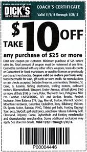 How Much Ya Bench Coupon Code U0027s Sporting Goods 10 Off 25 Printable Coupon Take 10 Off
