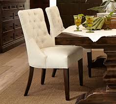 Floor Chairs Hayes Tufted Dining Side Chair Pottery Barn