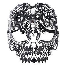 mardi gras skull mask coxeer skull masquerade mask metal mask with