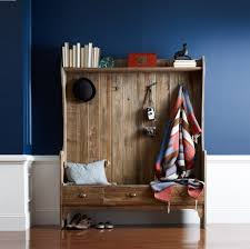 furniture large entry storage bench with coat rack and bookshelf