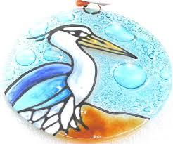 blue heron ornament