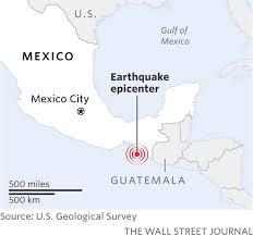 Mexico Toll Road Map by Huge Earthquake Strikes Southern Mexico Cetusnews