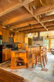 rustic cabin kitchens kitchen rustic with wood bar stools kitchen