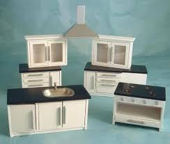 dolls house kitchen furniture kitchen cabinets modern kitchen set white silver dolls