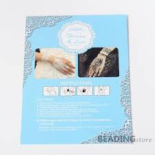 1pc black henna lace removable temporary tattoo paper stickers