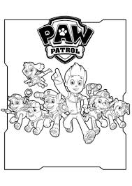 paw patrol characters coloring free printable coloring