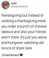 friendsgiving but instead of cooking a thanksgiving meal you