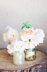 Mason Jar Vases For Wedding Diy Gold And Glitter Vases Tutorial