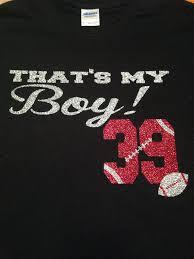 that s my boy football tshirt glitter by missylulus on etsy
