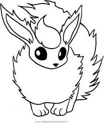 pokemon coloring pages flareon exprimartdesign