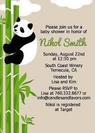 panda baby shower invitations baby showers pinterest panda